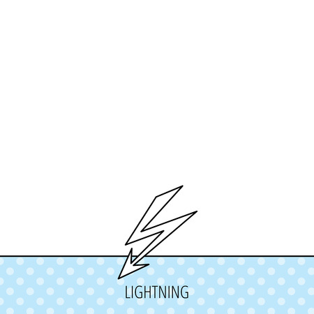 lightening: Lightening bolt icon. Power supply sign. Electricity symbol. Circles seamless pattern. Background with icon. Vector