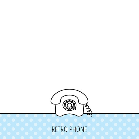 old phone: Retro phone icon. Old telephone sign. Circles seamless pattern. Background with icon. Vector