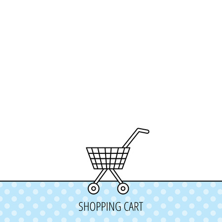 dealings: Shopping cart icon. Market buying sign. Circles seamless pattern. Background with icon. Vector Illustration
