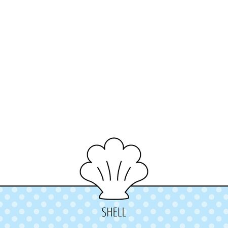 mollusk: Sea shell icon. Seashell sign. Mollusk shell symbol. Circles seamless pattern. Background with icon. Vector
