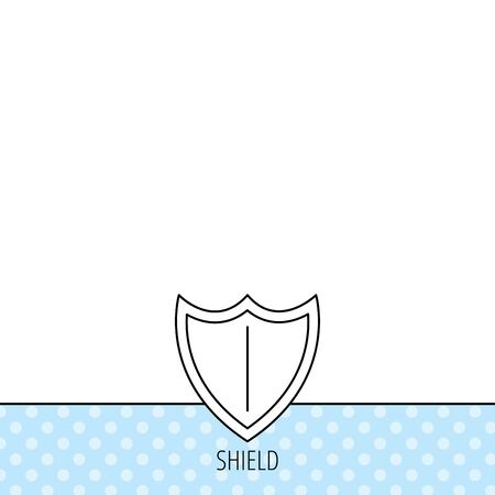royal background: Shield icon. Protection sign. Royal defence symbol. Circles seamless pattern. Background with icon. Vector