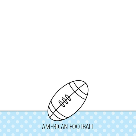team game: American football icon. Sport ball sign. Team game symbol. Circles seamless pattern. Background with icon. Vector