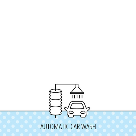 car pattern: Automatic carwash icon. Cleaning station sign. Circles seamless pattern. Background with icon. Vector