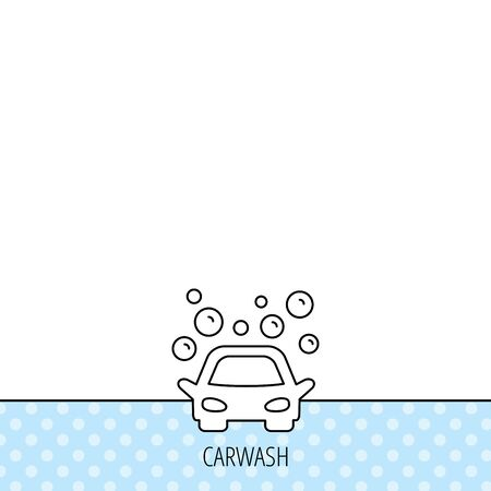 bubble background: Car wash icon. Cleaning station sign. Foam bubbles symbol. Circles seamless pattern. Background with icon. Vector