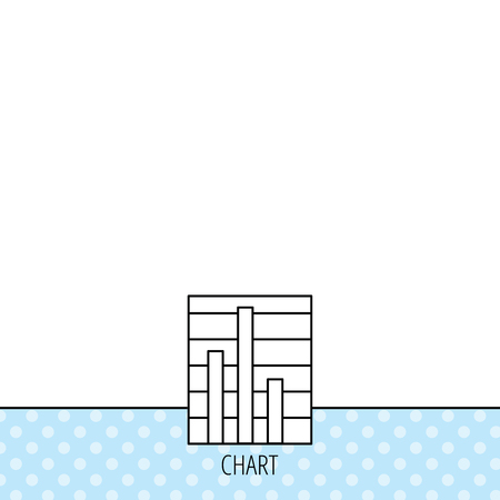 on demand: Chart icon. Graph diagram sign. Demand reduction symbol. Circles seamless pattern. Background with icon. Vector