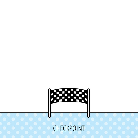 checkpoint: Finishing checkpoint icon. Marathon banner sign. Circles seamless pattern. Background with icon. Vector Illustration