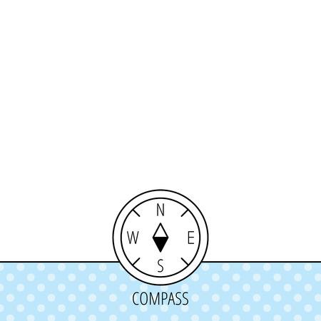географический: Компас значок навигации. Географические ориентации знак Круги бесшовные модели. Фон с иконой. Вектор