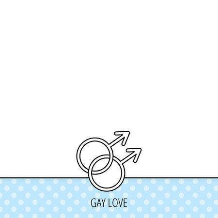 Gay couple icon. Homosexual sign. Circles seamless pattern. Background with icon. Vector