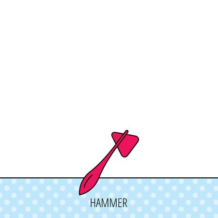 reflexe: Reflex ic�ne de marteau. Docteur signe de l'�quipement m�dical. Nerveux symbole outil de th�rapie. Circles seamless pattern. Contexte avec l'ic�ne rouge. Vecteur