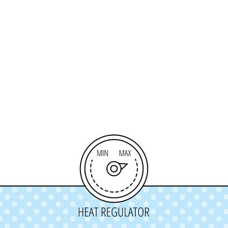 Wärmeregler-Symbol. Kühler Thermometer Zeichen. Icons In Farbe Kreis ...
