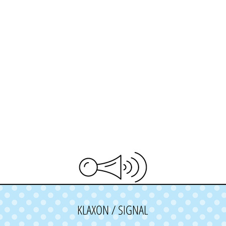 strident: Klaxon signal icon. Car horn sign. Circles seamless pattern. Background with icon. Vector