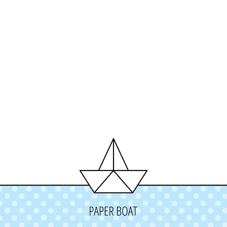 Origami Ship Sign Sailing Symbol Circles Seamless Pattern Background With Icon Vector