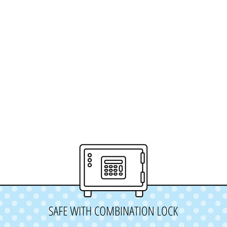 combination safe: Safe icon. Money deposit sign. Combination lock symbol. Circles seamless pattern. Background with icon. Vector Illustration