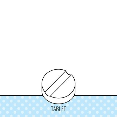 gu�rir: Ic�ne de la tablette. M�decine signe de la drogue. Symbole de gu�rison pharmaceutique. Circles seamless pattern. Contexte avec l'ic�ne. Vecteur