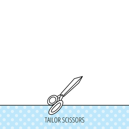 grooming: Tailor scissors icon. Hairdressing sign. Grooming symbol. Circles seamless pattern. Background with icon. Vector Illustration