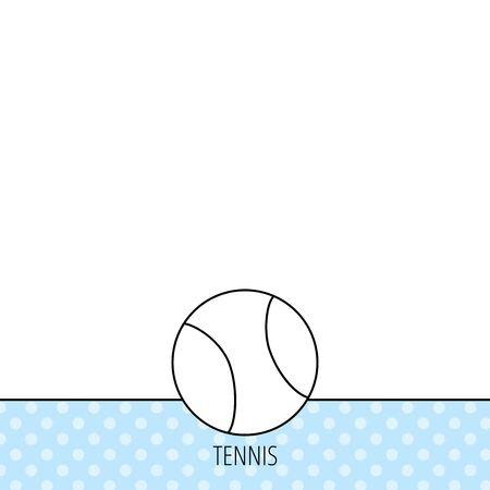 team game: Tennis equipment icon. Sport ball sign. Team game symbol. Circles seamless pattern. Background with icon. Vector