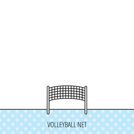 volleyball net: Volleyball net icon. Beach sport game sign. Circles seamless pattern. Background with icon. Vector Illustration