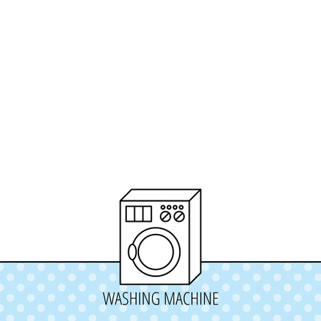 washer machine: Washing machine icon. Washer sign. Circles seamless pattern. Background with icon. Vector