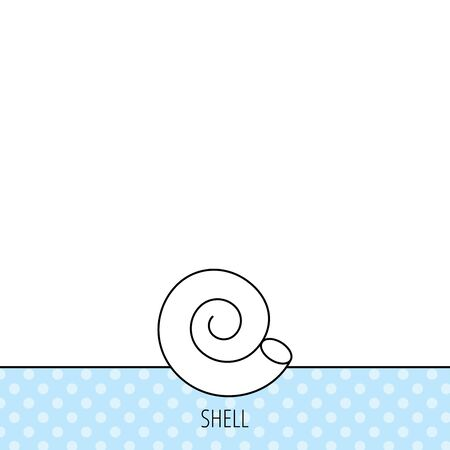 mollusk: Sea shell icon. Spiral seashell sign. Mollusk shell symbol. Circles seamless pattern. Background with icon. Vector