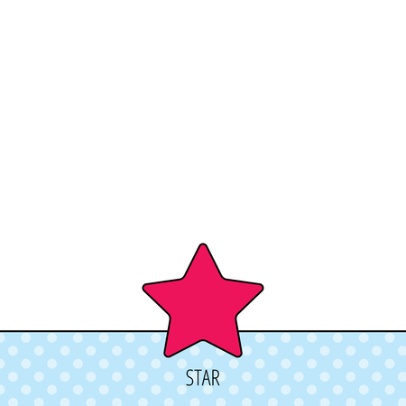 favorites: Star icon. Add to favorites sign. Astronomy symbol. Circles seamless pattern. Background with red icon. Vector