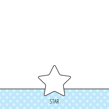 favorites: Star icon. Add to favorites sign. Astronomy symbol. Circles seamless pattern. Background with icon. Vector