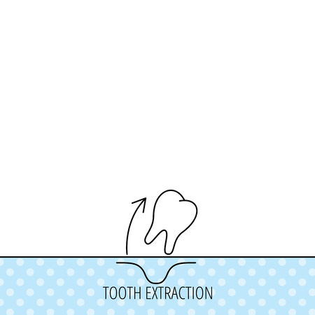 anesthesia: Tooth extraction icon. Dental paradontosis sign. Circles seamless pattern. Background with icon. Vector