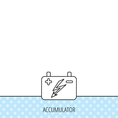 accumulator: Accumulator icon. Electrical battery sign. Circles seamless pattern. Background with icon. Vector Vettoriali