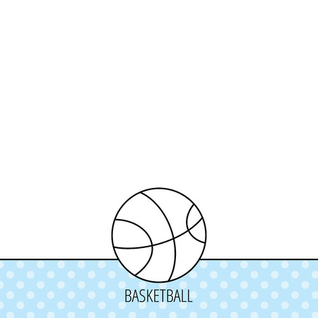 team game: Basketball equipment icon. Sport ball sign. Team game symbol. Circles seamless pattern. Background with icon. Vector