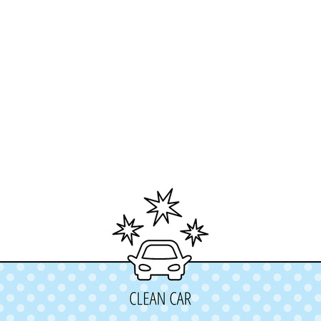 car pattern: Clean car icon. Cleaning wash station sign. Circles seamless pattern. Background with icon. Vector