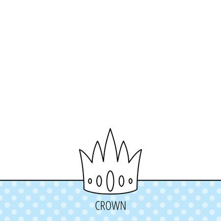 vip symbol: Icono de la corona. Royal signo rey sombrero. S�mbolo VIP. C�rculos sin patr�n. Fondo con el icono. Vector