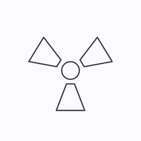 radiology: Radiation icon. Radiology sign. Linear outline icon on white background. Vector Illustration