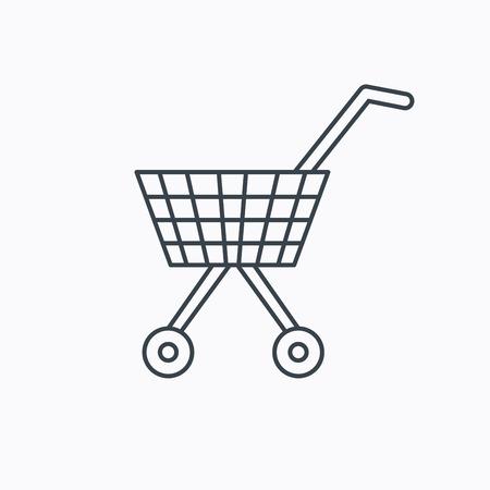 shopping cart icon: Shopping cart icon.  Illustration