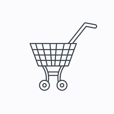 dealings: Shopping cart icon.  Illustration