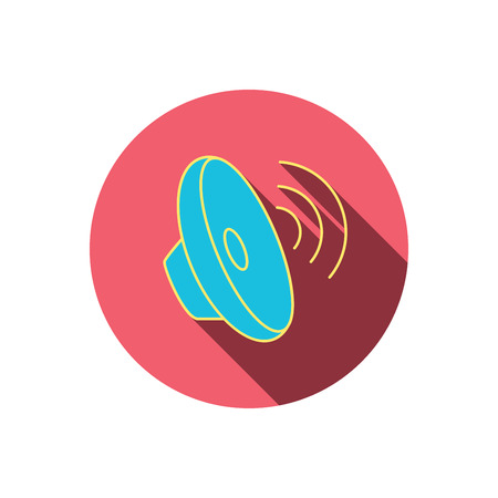 waves: Sound waves icon.  Illustration