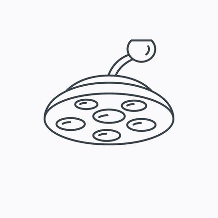 quir�rgico: Icono de la l�mpara quir�rgica. Vectores