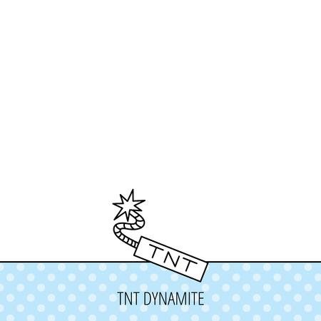 dinamita: Icono de dinamita TNT. Vectores