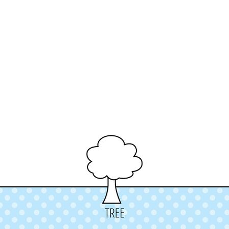 coma: Tree icon.  Illustration
