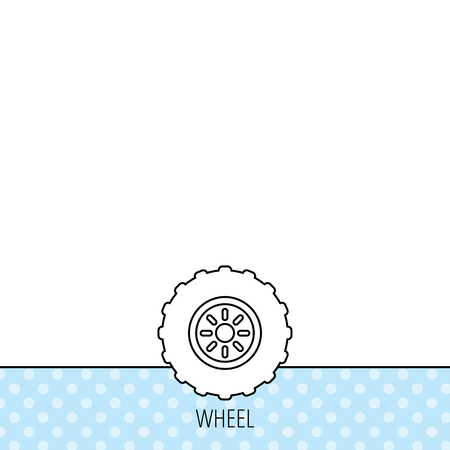 flaring: Tractor wheel icon.  Illustration