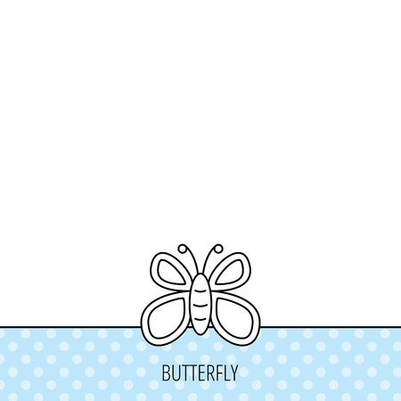 lepidoptera: Butterfly icon. Flying lepidoptera sign. Dreaming symbol. Circles seamless pattern. Background with icon. Vector Illustration