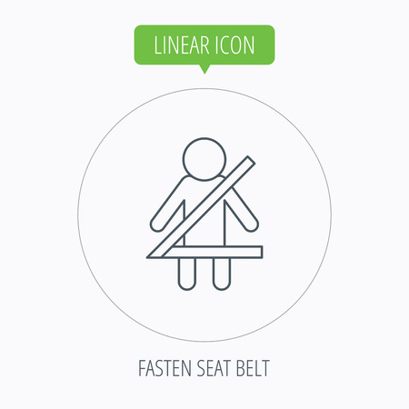 fasten: Fasten seat belt icon