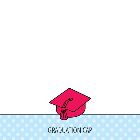 master degree: Graduation cap icon