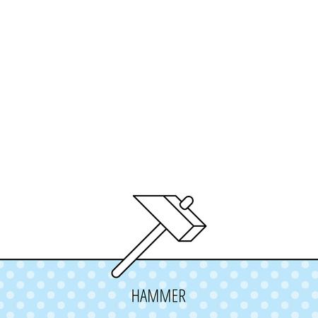 mat�riel chantier: Marteau ic�ne. R�parer ou fixer signe. Les �quipements de construction symbole de l'outil. Circles seamless pattern. Contexte avec l'ic�ne. Vecteur Illustration