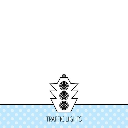 regulate: Traffic light icon. Safety direction regulate sign. Circles seamless pattern. Background with icon. Vector
