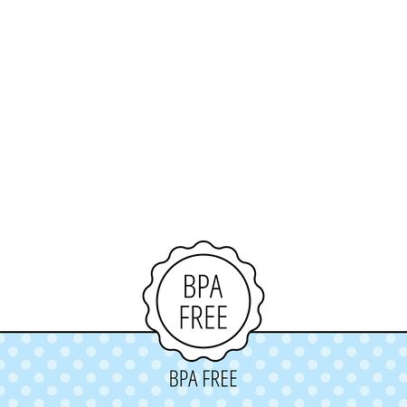 bpa: BPA free icon. Bisphenol plastic sign. Circles seamless pattern. Background with icon. Vector