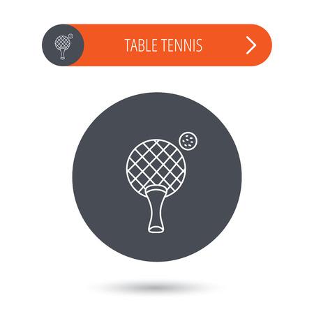 c9b6b5f88 Icono De Tenis De Mesa. Ping Pong Señal. Símbolo Del Deporte ...