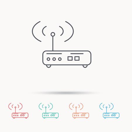 Wi-Fi-Router-Symbol. Wifi-Internet-Zeichen. Gerät Mit Antennensymbol ...