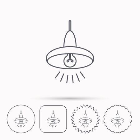 Deckenleuchte-Symbol. Licht Beleuchtung Zeichen. Linear-Symbole In ...