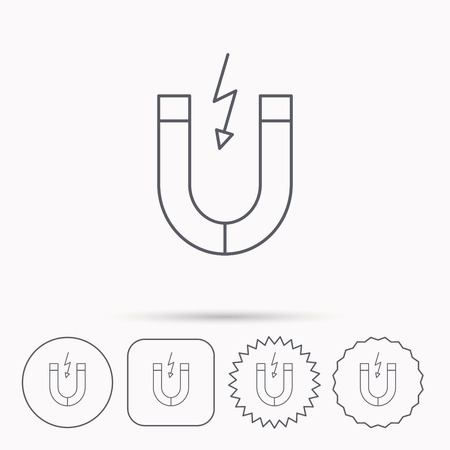 Magnet-Symbol. Magnetic Power Zeichen. Physik-Symbol. Lineare ...