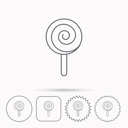 lolly pop: Lollipop icon. Lolly pop candy sign.  Illustration