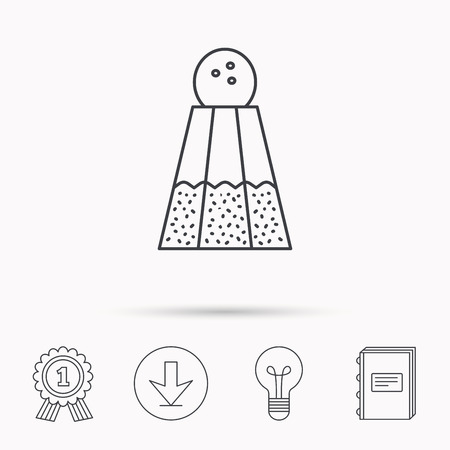 salt lamp: Salt icon. Sodium spice sign. Cooking ingredient symbol. Download arrow, lamp, learn book and award medal icons.